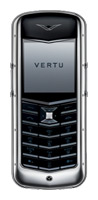 Vertu Constellation Polished Stainless Steel Black Leather